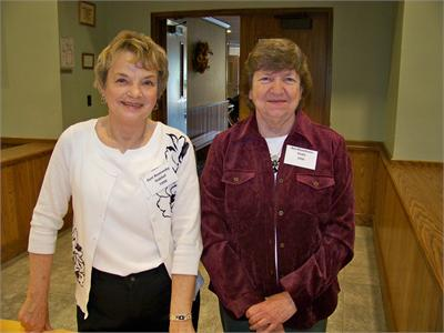 Geri Oaklief and Bev Drake from the class of '56