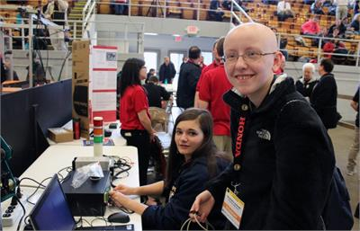 OFHS students Stephanie Schroth and Joselyn Rabbitt placed third in the Pick and Place competition at the National Robotics Challenge in Marion,Ohio.