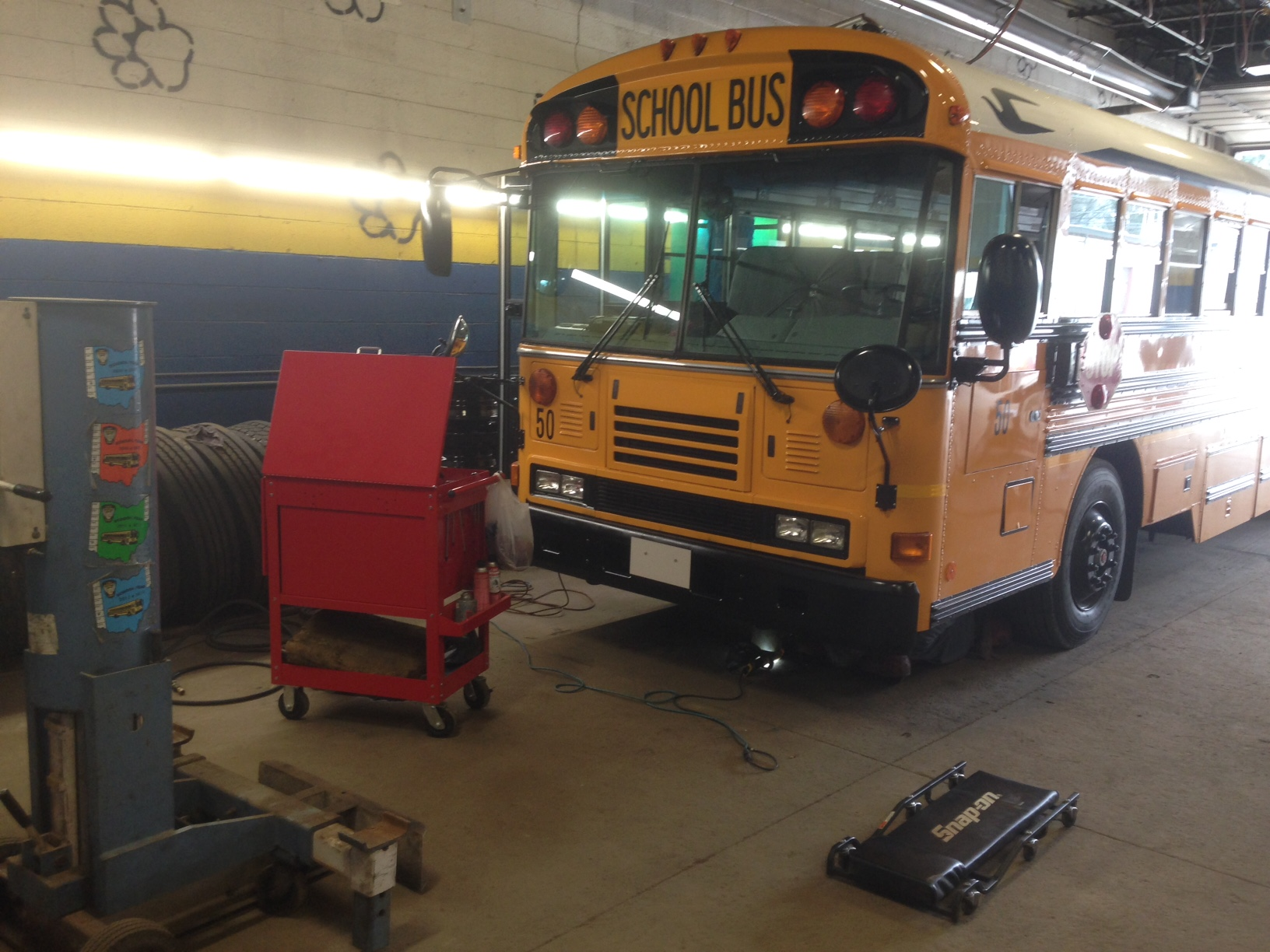 Refurbished school buses make home in Olmsted Falls